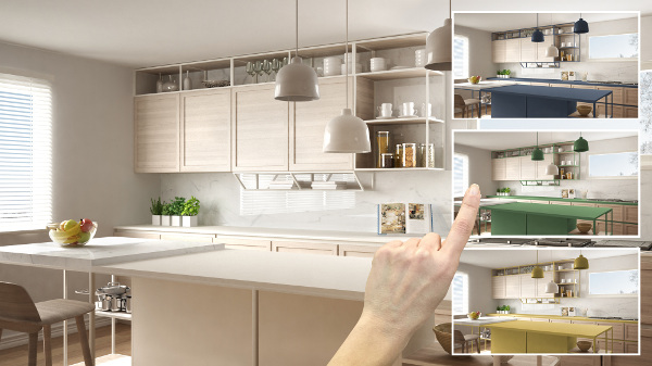 selecting kitchen options